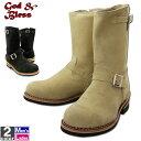 ブーツ ゴッドアンドブレス GOD&BLESS メンズ レディース GB-9810B 本革スウェード エンジニアブーツ 2001 ロング丈 ロングブーツ ワークブーツ 大きいサイズ G&B スエード