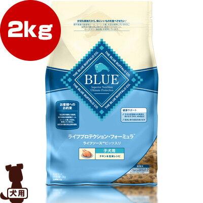 ブルーバッファロー 子犬用 チキン&玄米レシピ 2kg BLUE ライフプロテクション・フォーミュラ ▼g ペット フード 犬 ドッグ
