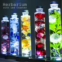 ハーバリウム Led 誕生日 プレゼント ギフト 『herbarium ハーバリウム with Led Coaster』 結婚祝い 結婚記念日 開店祝い 開業祝い 新築祝い 卒業祝い 退職祝い 母の日 クリスマス プリザーブドフラワー 送料無料