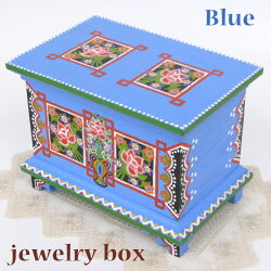 ポーランド木製小物入れ宝石箱ハンドメイド彩色