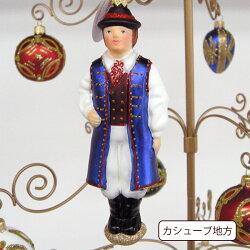 クリスマスガラスのオーナメントポーランド民族衣装