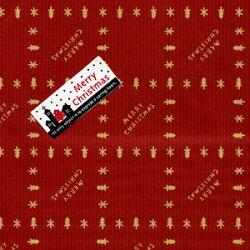クリスマス包装紙とシール