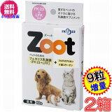 【ポイント最大34倍】【送料無料 ポスト投函】ズーット Zoot 60粒 ×お得2箱+9粒増量 ※日本郵便のクリックポストにてお届け《犬猫小動物用、乳酸菌、エンテロコッカス・フェカリス・FK−23、ツヤット、2型コラーゲン、》