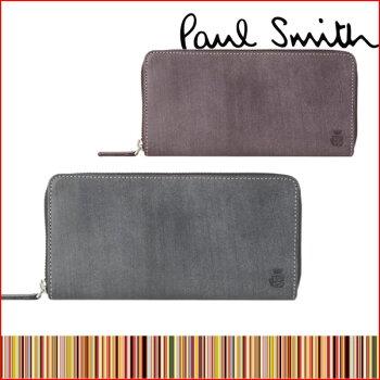 送料無料ポールスミスPAULSMITHメンズポール・スミスラウンドファスナー長財布ロウコレクションブランド554839J166小銭入れあり