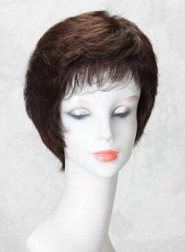 【送料無料】【ポイント10倍!!】思いのままのヘアスタイルで美しくアクティブに!! 婦人用ヘアウィッグ/女性用ウィッグ/高級ウィッグ/医療用ウィッグ/フルウィッグ/人毛ミックス(総手植え) Wing Hair (ウイングヘアー) むれにくい人毛ミックスウィッグ ショートヘアー