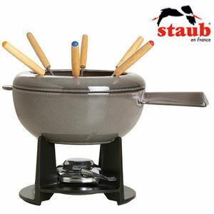 【送料無料】staub(ストウブ) ミックスフォンデュセット 40509-584/グレー/チョコフォンデュ/チーズフォンデュ