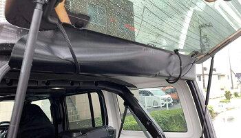 リアガラスウエザーフード雨避けジープラングラー(JL)JeepWrangler