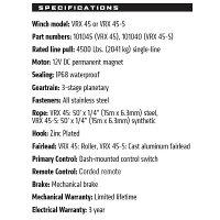 WARNウインチVRX45-S[12V]PowertsportWinch