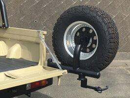 ランドクルーザー70系(再販車)型式GRJ79K用TRAILリアバンパーWithタイヤキャリア