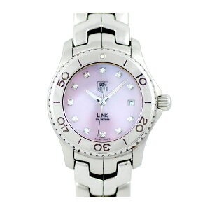 Battery replaced TAG Heuer TAG Heuer Link WJ131C 200m Waterproof 11P Diamond Pink Shell Dial SS Stainless Ladies Quartz [6 months warranty] [Watch] [Used]