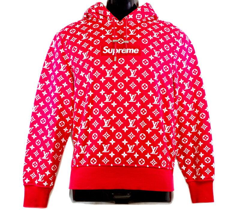 トップス, パーカー  LOUIS VUITTON Supreme XS 17AW LV box logo hooded sweatshirt