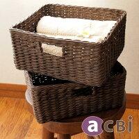アジアン家具acbiウォーターヒヤシンス製収納バスケット2個組ACE12DK2