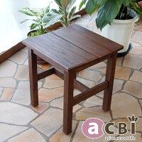 アジアン家具acbiチーク無垢木製スツールチェアACS110KA
