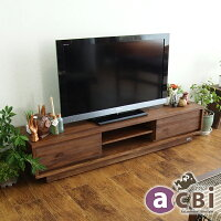【@CBi(アクビィ)】VILLAアジアン家具チーク無垢木製テレビボードTV台幅160cmACW540KA