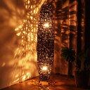 アジアンリゾートのバンブーネストスタンドライト 南国バリ島ホテルでくつろぐ様なお部屋を演出 ショップや雑貨店舗の展示ディスプレイにも おしゃれな間接照明 ナチュラル 創業100年 籐家具専門メーカー acbi アクビィ ACZL001