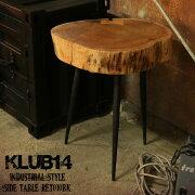 【KLUB14】インダストリアルサイドテーブルRET010BK