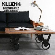 【KLUB14】インダストリアルカートセンターテーブルRET360BK