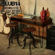 【KLUB14】インダストリアルデスクテーブルRET506BK