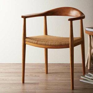 ハンス・ウェグナー The Chair ザ・チェア ダイニングチェア ダイニングチェアー 肘付き 肘掛け 食卓椅子 イス 北欧 木製 無垢材 チーク材 ラタン やわらかい座り心地 家具 カフェ レストラン IDENTITY C300WX7