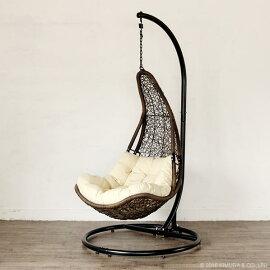 ハンギングチェアハンモックチェアソファー椅子イススタンドパーソナルチェア撥水屋外アジアンリゾートバリ島C501PBRW
