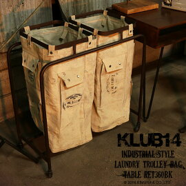 KLUB14インダストリアルトローリーランドリーバッグREK702BK