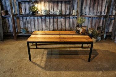 アイアン&ウッドテーブル        W1000  ミックスカラーBCADB