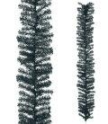 クリスマスツリー・造花・観葉植物25cm幅ブラックノーブルパインガーランド