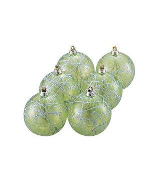 ★クリスマスツリー飾り オーナメント 80mm クリアカラーボール(6個入り) [TOBA6139]