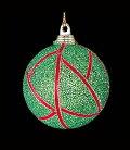 クリスマスツリー飾り・オーナメント6cmビーズグリーンボール