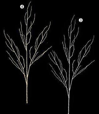 ★クリスマス装飾 造花 フラワー グリッターブランチスプレイ [LESP6637]