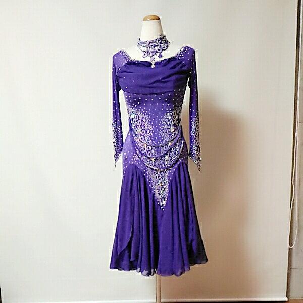 <レンタル>衣装 社交ダンス ドレス Lサイズv0159