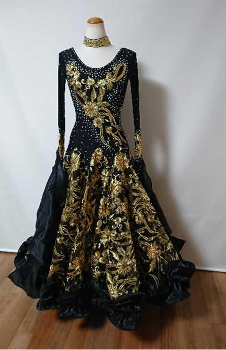 社交ダンス 衣装 ドレス フォーメーション m5