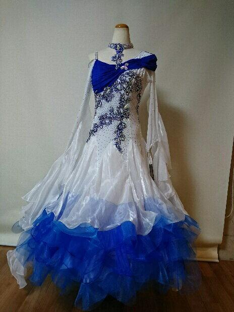 <レンタル>衣装 社交ダンス ドレス Lサイズz032