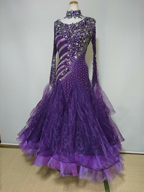 <レンタル>y0911衣装 社交ダンス ドレス 3L