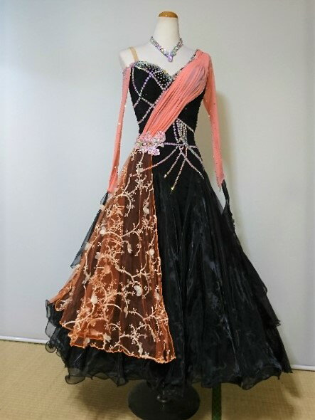 <レンタル>衣装 社交ダンス ドレス Sサイズ y6095