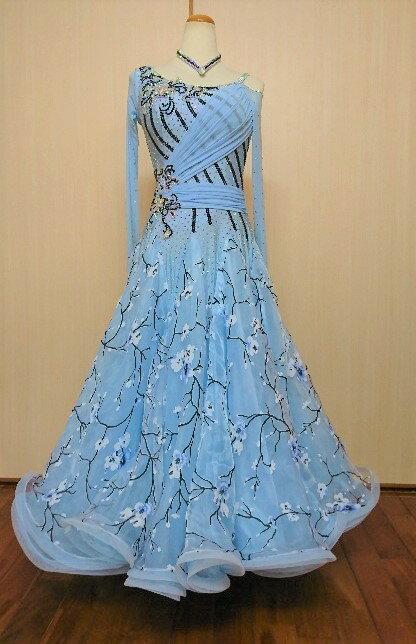<レンタル>衣装 社交ダンス ドレスsサイズy2633