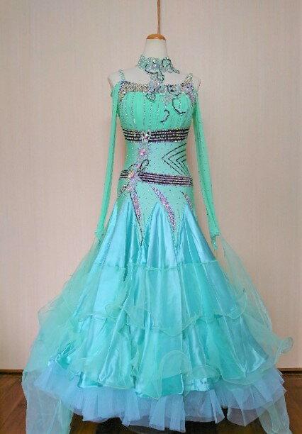 <レンタル>衣装 社交ダンス ドレスMLサイズy1432