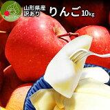 りんご 訳あり 10kg 送料無料 サンふじ 山形県産 産地直送りんご お徳用 ジャムにもOKなりんご りんごジュースにもOK! 家庭用りんご 日時指定不可 食べ物 果物 ポイント消化 美味しいリンゴ あす楽