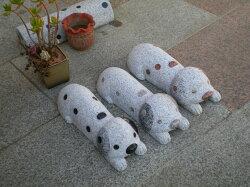 車止め犬デザインシリーズ「ダルメシアン犬車止めピンク色」送料無料カーポートに!★カーストッパー★ペット★ダルメシアン