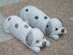 個数1で2本1組の価格です車止め 犬デザインシリーズ「ダルメシアン」送料無料 カーポートに!...