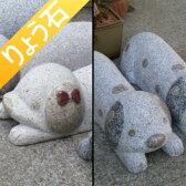 車止め 人気の動物シリーズ 犬の1本(匹)売り 動物 アニマル ストッパー 石材 ダルメシアン 高級みかげ石 りょう石