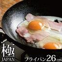 リバーライト 極 JAPAN 鉄 フライパン 26cm 【IH対応】【日本製】 JAN: 4903449125050 【送料無料】