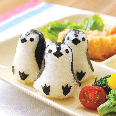 かわいすぎて食べるのがつらい。ペンギン型のおにぎり