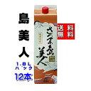 【送料無料】 芋焼酎 島美人 25度 1800ml パック 2ケース(12本)