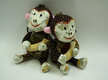 【ゆうパケット不可】キーホルダー 人形 おさるさん ハンドメード キーチェーン ぬいぐるみ モンキー 猿
