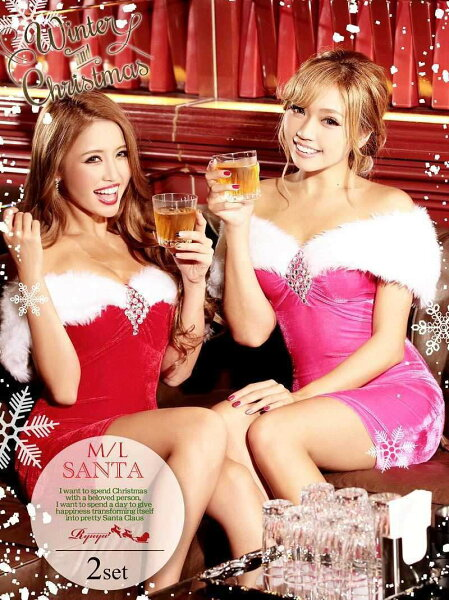 あす楽サンタコスプレサンタ衣装ピンクセクシークリスマスコスプレコスチューム可愛いサンタコスプレワンピースセクシーサンタクロースパ
