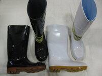 JW709安全耐油長靴鋼鉄先芯耐油底25cm〜28cm白・黒
