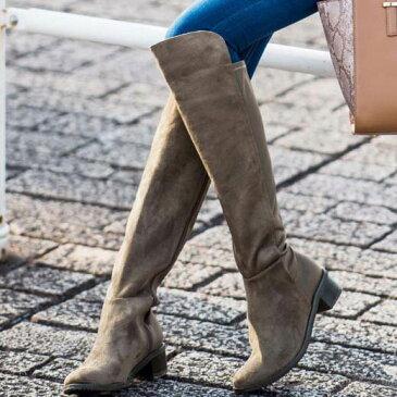 ブーツ レディース 秋 S(22.5cm) M(23〜23.5cm) LL(25cm) L(24〜24.5cm)サイズ感動的!快適フィットストレッチブーツ 3.8cm太ヒール ryuryu リュリュ 30代 ファッション レディース Styrich 40代