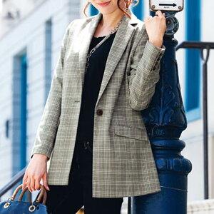 ジャケット サイズロングテーラードジャケット リュリュ ファッション レディース アウトレット アウター