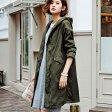 コート/秋冬/M/LL/Lフードデザインモッズコート(M〜LL) ryuryu/リュリュ 30代 レディース ファッション